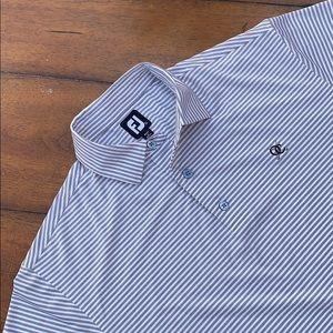Foot joy Men's polo Striped shirt size L